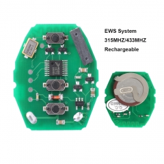 Remote Control Circuit Board 3 Buttons 315MHz/433MHz for BMW X5