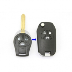 Modified Folding Remote Key Shell 3 Button for Nissan Sylphy