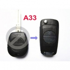 Modified Flip Remote Key Shell 2 Button for Nissan A33