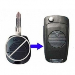 Modified Flip Remote Key Shell 2 Button for Nissan A32