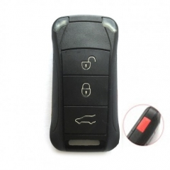 5PCS Flip Remote Key Shell 3+1 Button for Porsche