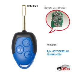 OEM Remote Key 3 Button Keyless Entry Fob 433Mhz With Chip 4D63 for Ford Transit 2006-2014