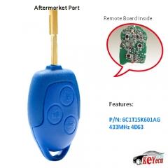 GENUINE TRANSIT Remote Key FOB 433MHz 4D63 Chip for Ford Transit WM VM 2006-2014