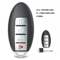 Keyless Entry Remote Car Key Fob for Nissan Sentra Versa 2013-2017 FCC: CWTWB1U840