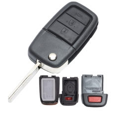 Flip Remote Key Shell 3+1 Button For Pontiac