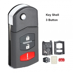 Flip Remote Key Shell 2+1 Button for Mazda 662F-SKE12501