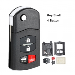 Flip Remote Key Shell 3+1 Button for Mazda 662F-SKE12501