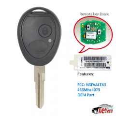 OEM Remote Key Fob 433Mhz ID73 for Land Rover Discovery 2 Valeo CE0165 73370847C