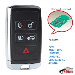 Modified Smart Remote Car Key Fob 315MHz/433MHz for Land Rover LR2 LR4 2012-2015,Range Rover Evoque /Sport