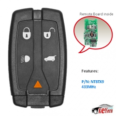Replacement Remote key Fob 5Button 433MHz for Land Rover LR2 Freelander2 2007-2012