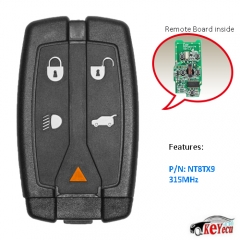 New Remote key Fob 5 Button 315MHz for 2008-2012 Land Rover LR2 FCC ID: NT8TX9