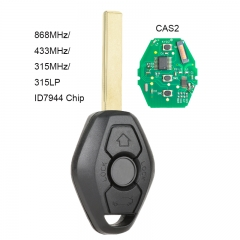 KYDZ Remote Key 3 Button for CAS2 5 Series 868MHz/ 433MHz/ 315MHz/ 315LP With PCF7942 Chip for BMW E60 5 Series, E63 6 Series 2004-2006 KR55WK47993