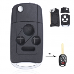 Flip Remote Key Shell Case Fob 3+1 Button for Honda Accord Civic Pilot