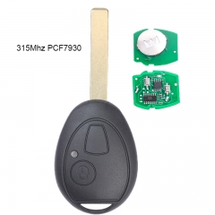 Aftermarket Remote Head Key 315MHZ PCF7931 for Mini Copper Land Rover 75 MG ZT 2002-2005
