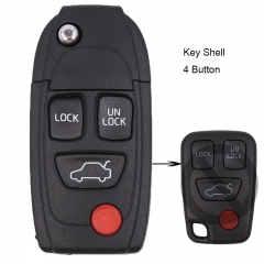 Modified Folding Remote Key Shell 3+1 Button for VOLVO S40 S60 S70 S80 S90 V40 V70 V90 XC70 XC90