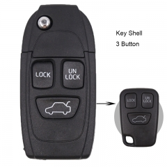 Folding Remote Key Shell for VOLVO C70 S40 S60 S70 S80 S90 V40 V70 V90 XC70 XC90