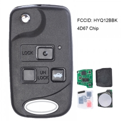 Replacement Flip Remote Key Fob for 2002-2010 Lexus SC430 HYQ12BBK - 4D67/4D68