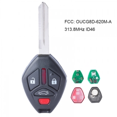 Remote key 4 Button for 2006 -2007 Mitsubishi Eclipse Galant OUCG8D-620M-A