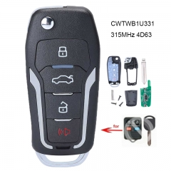 Upgraded Replacement Flip Remote Key 315MHz 4D63 80 BIT Chip for Ford FCC: CWTWB1U331
