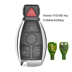 Xhorse VVDI BE Key Pro Improved Version Complete Remote Key 315MHz/433MHz 4 Button for Mercedes-Benz