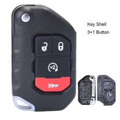 Flip Remote Key Shell 4 Button Fob for 2018 2019 Jeep Wrangler 68292944AA OHT1130261