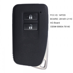 Smart Key Transmitter for Lexus NX300H NX200T NX300 2015-2018 P/N: 89904-78140 2110 AG Board