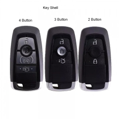Smart Remote Car Key Shell Case 2/3/4 Button for Ford Fusion Explorer Expedition Edge F150 F250 F350 With Emergency Blade