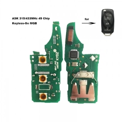MQB System Keyless- Go Modified Remote PCB Board 3 Button ASK 315MHz / 434MHz 49 Chip for VW Megamos AES