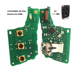 MQB System Keyless-Go Remote PCB Board 3 Button 315MHz / 434MHz 49 Chip for VW Megamos AES