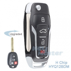 Upgraded Flip H Chip Remote Key Fob for Toyota Corolla 2014 2015 2016 FCCID: HYQ12BDM