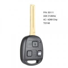 Remote Car Key 314MHz 4C / 4D68 Chip Fob for Lexus LS430 2001-2006 P/N: 50111
