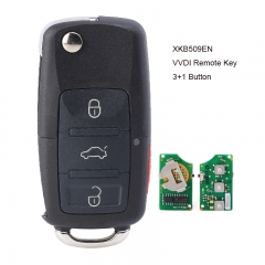 XHORSE Wired Universal Remote Key B5 Style Flip 3+1 Buttons for VVDI Key Tool English Version XKB509EN