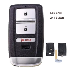 Replacement Smart Remote Key Shell 2+1 Button for Acura MDX RDX ILX TLX 2014-2019 - FCC: KR5V1X