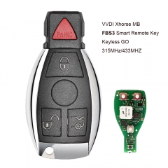 Xhorse MB FBS3 BGA Keyless-Go Smart Remote Key 4 Button 315MHz/433MHZ for Mercedes-Benz W204 W207 W212 W164 W166 W221