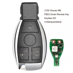 Xhorse MB FBS3 BGA Keyless-Go Smart Remote Key 3 Button 315MHz/433MHZ for Mercedes-Benz W204 W207 W212 W164 W166 W221