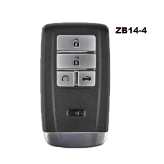KEYDIY Universal 4 Buttons Smart Key for KD-X2 Car Key Remote Replacement Fit for More than 2000 Models ZB14-4