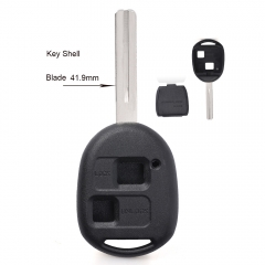10PCS High Quality Remote Key Shell 2 Button Replacement for Toyota TOY40 41.9MM