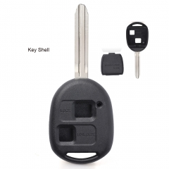10PCS High Quality Remote Key Shell 2 Button Replacement for Toyota TOY43