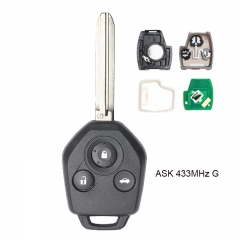 "Remote key 433MHz ASK with ""G"" CHIP for Subaru Forester Impreza 2013-2015,XV 2012-2015"