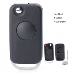 Flip Remote Key Shell 1 Button for Mercedes-Benz C E ML S HU39 Blank Blade
