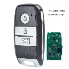 Smart Remote Key FOB 3 Button Transmitter 433MHz 8A Chip Fob for Kia K2 KX3 KXCROSS 2018 P/N: 95440-H2000