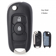 Flip Remote Key Shell 2 Button for Opel Vauxhall Astra K 2015-2017