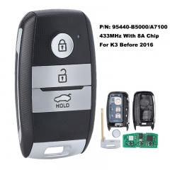 Smart Remote Key Keyless 3 Button 433MHz 8A Chip Fob for KIA K3 P/N: 95440-B5000 / 95440-A7100
