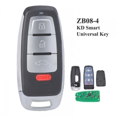 KEYDIY Universal 4 Buttons Smart Key for KD-X2 Car Key Remote Replacement Fit for More than 2000 Models ZB08-4