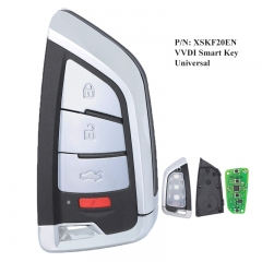 XHORSE 4 Buttons VVDI Universal Remotes Smart Key with Proximity Function VVDI Memoeial Knife Style P/N: XSKF20EN