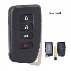 Smart Remote Control Key Shell Case 3+1 Button for Lexus  (SUV) TOY12 (Smooth )