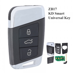 KEYDIY Universal 3 Buttons Smart Key for KD-X2 Car Key Remote Replacement Fit for More than 2000 Models ZB17