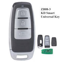 KEYDIY Universal 3 Buttons Smart Key for KD-X2 Car Key Remote Replacement Fit for More than 2000 Models ZB08-3
