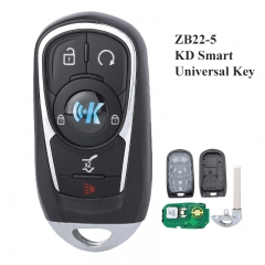 KEYDIY Universal 5 Buttons Smart Key for KD-X2 Car Key Remote Replacement Fit for More than 2000 Models ZB22-5