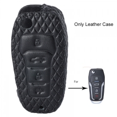 Leather Case Fob For Ford Lincoln Mazda Mercury Remote Key
